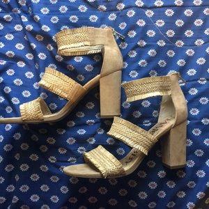 Sam & Libby Tan Wedge Heels
